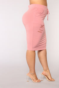 Casual Lover Skirt - Mauve Angle 12