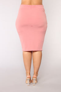 Casual Lover Skirt - Mauve Angle 13