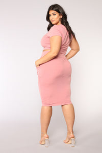 Casual Lover Skirt - Mauve Angle 10