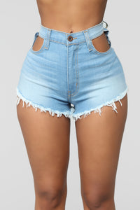 Cookie Cutter Denim Shorts - Light Blue Wash