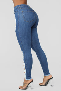 Tell Me If You Like It Jeans - Medium Blue Wash