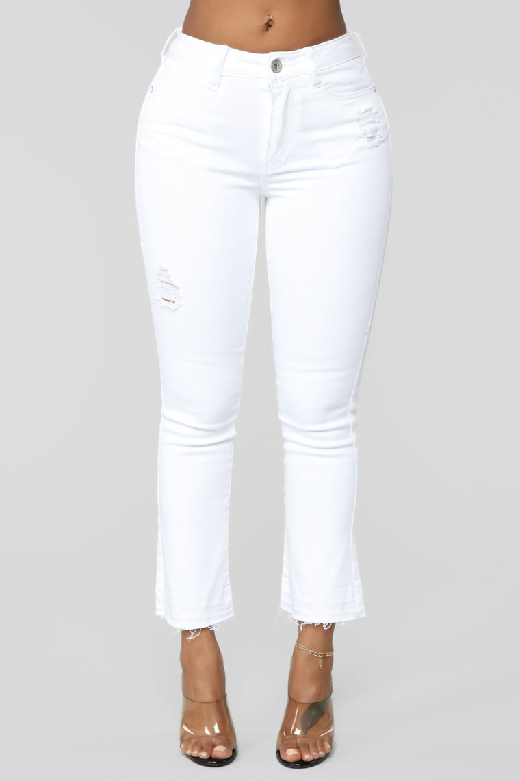 Got Me Bodied High Rise Jeans - White
