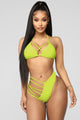 High Waves 2 Piece Swimsuit - Neon Yellow