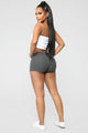 Plain Jane Mini Shorts - Charcoal