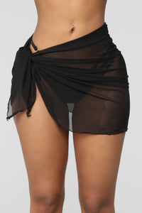 Cover Stories Swim Cover Up - Black