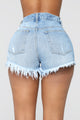 Straight To The Point High Rise Denim Shorts-MediumBlue Wash