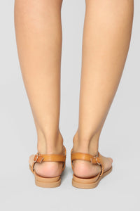 Chasing The Sun Flat Sandals - Tan