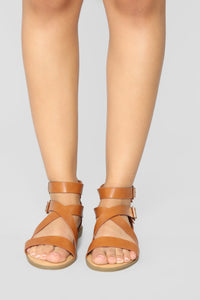 Lovely Flat Sandals - Tan