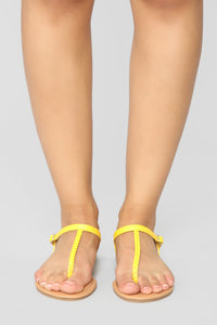 Believe It Or Not Flat Sandals - Yellow