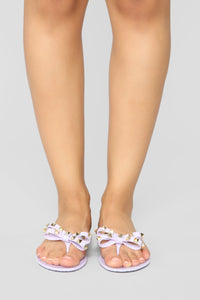 Jumping To Conclusions Flat Sandals - Purple