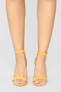 Miscommunication Heeled Sandals - Mustard