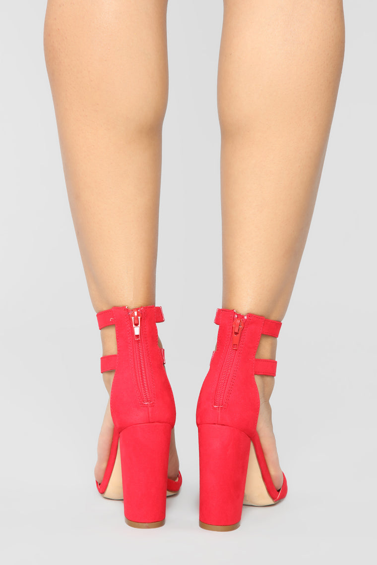 You Heard What Heeled Sandals - Red