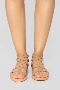 Summer Fling Flat Sandals - Camel Angle 2