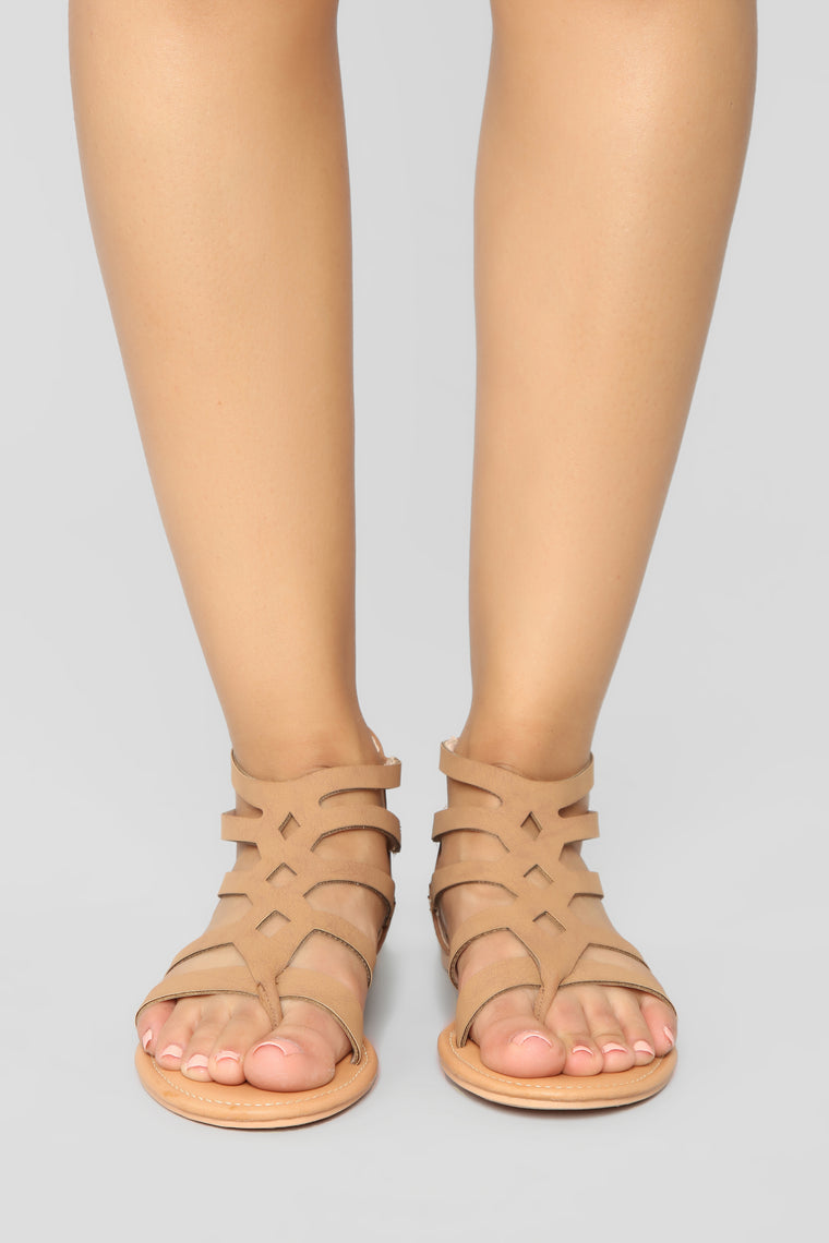 Summer Fling Flat Sandals - Camel