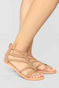 Summer Fling Flat Sandals - Camel Angle 1