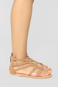 Summer Fling Flat Sandals - Camel Angle 3