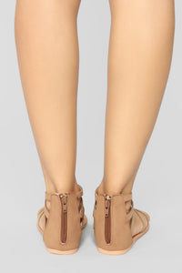 Summer Fling Flat Sandals - Camel Angle 4