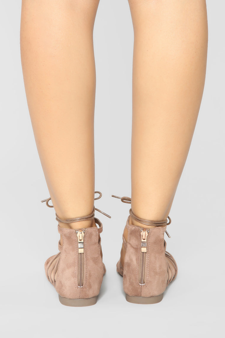 It's Different Now Flat Sandals - Taupe