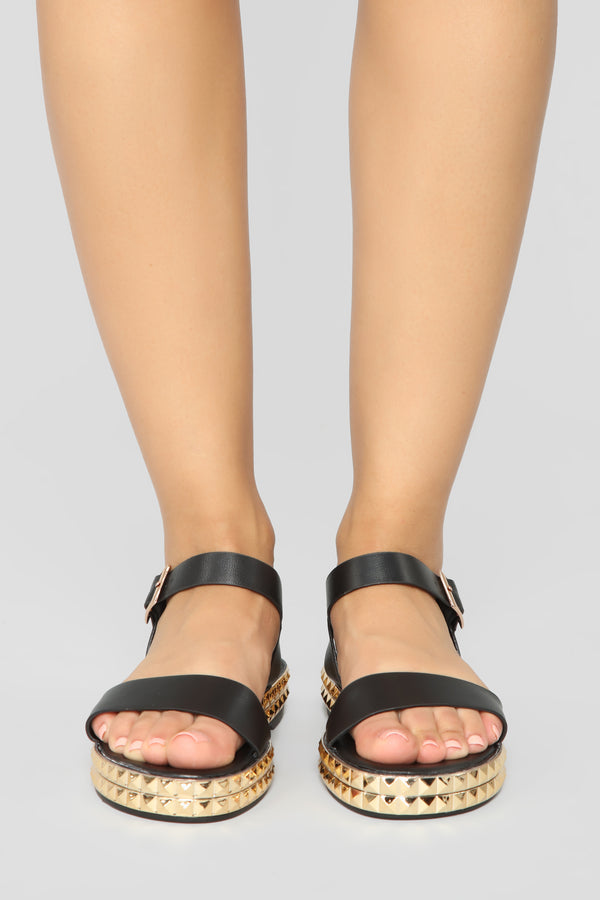 61b0ccf334c It s Been Awhile Flat Sandals - Black