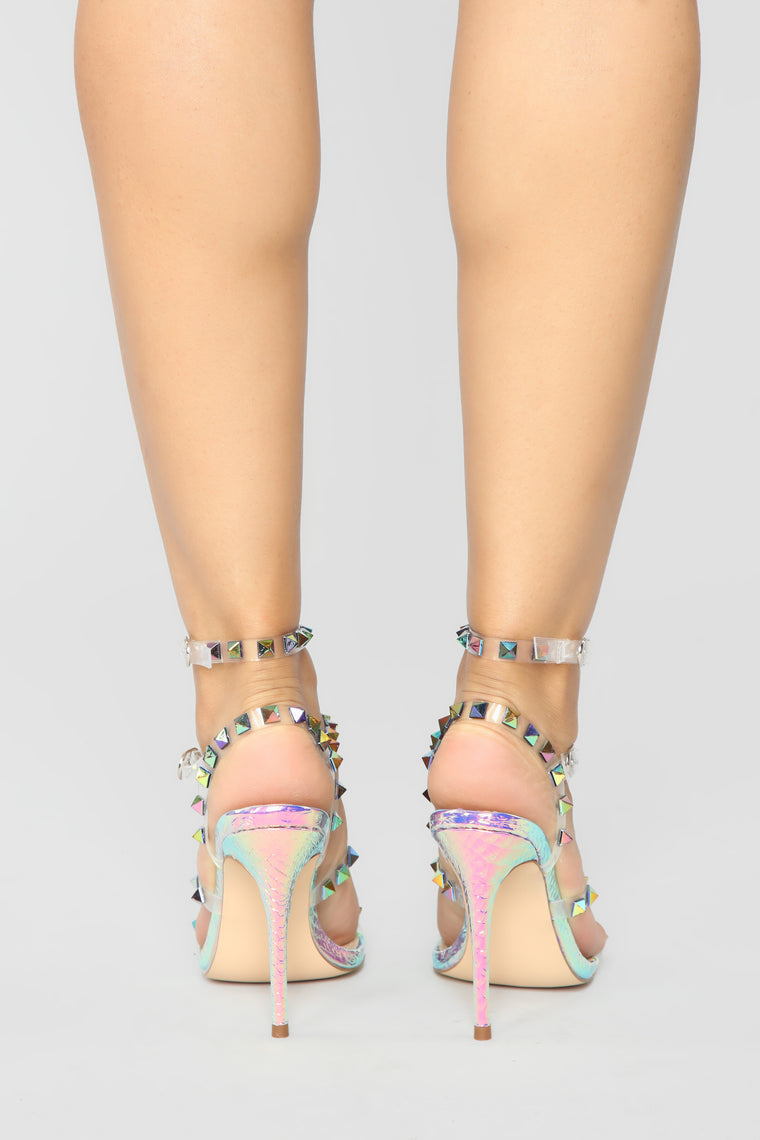 Speak Louder Heeled Sandals - Hologram