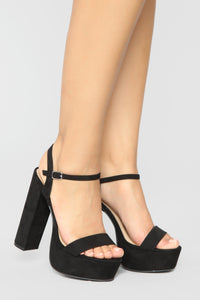 Fresh Start Heeled Sandals - Black