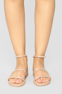 Over This Flat Sandals - Rose Gold