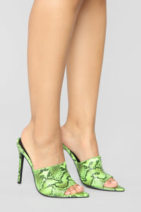 Get Back Up Heeled Sandal - Lime