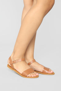 All About Me Flat Sandals - Tan