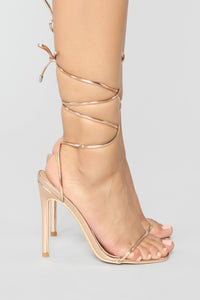 Precious Heeled Sandal - Rose Gold