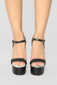Those Are Killer Heeled Sandals - Black