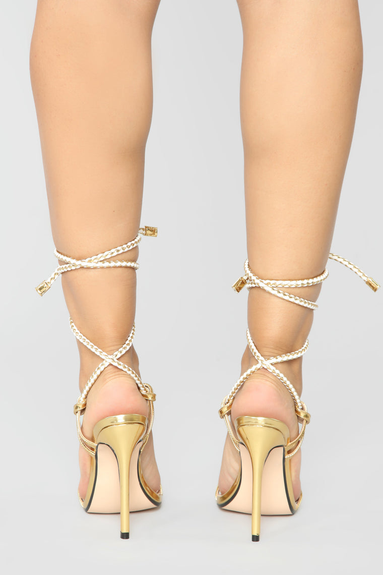 Simply You Heeled Sandals - Gold