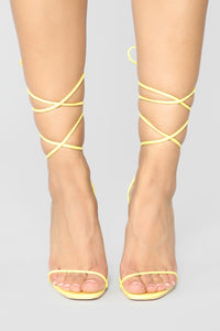 Precious Heeled Sandal - Yellow