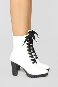 Mixed Feelings Booties - White Angle 3