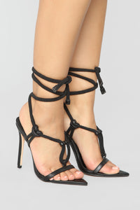 Simply You Heeled Sandal - Black