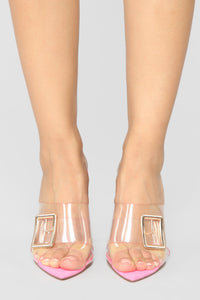 Next To Me Heeled Sandals - Pink Angle 2