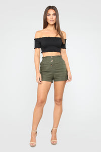 Make Way Crop Top - Black Angle 2