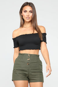 Make Way Crop Top - Black Angle 1
