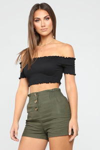 Make Way Crop Top - Black Angle 3