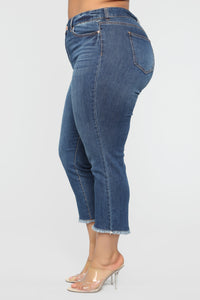 At Your Own Risk Jeans - Medium Wash Angle 4