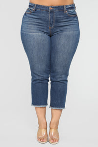 At Your Own Risk Jeans - Medium Wash Angle 2