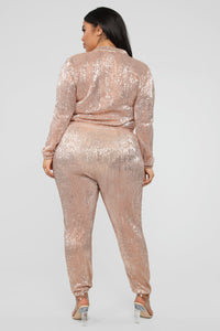 Is This Star Taken Sequin Jumpsuit - Rose Gold Angle 10
