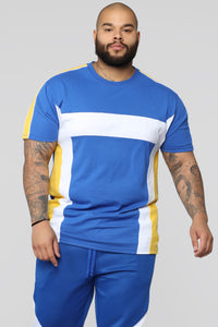 Ready To Race Short Sleeve Top - Royal Blue Angle 6