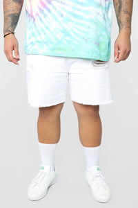 Martin Denim Shorts - White Angle 7