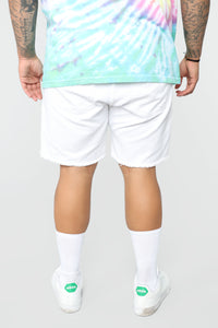 Martin Denim Shorts - White Angle 12