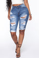 Washed Up Bermuda Shorts - Medium Blue Wash