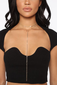 Let That Sink In Necklace - Gold Angle 2