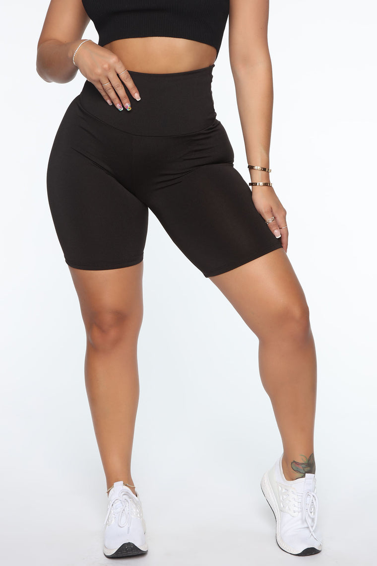 Simplistic Girl Active Biker Short - Black