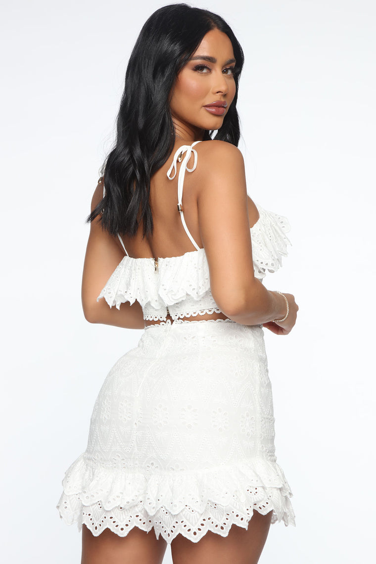 Picture Perfect Skirt Set - White