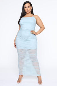 My Money Thick Maxi Dress - Blue Angle 7