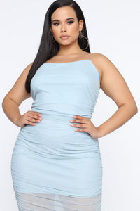My Money Thick Maxi Dress - Blue Angle 9